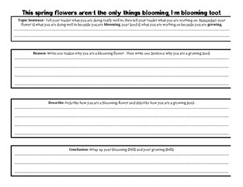 Spring Writing Unit for First and Second Grade