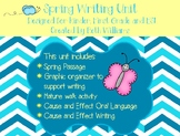 Spring Writing Unit for Kindergarten and First Grade ESL