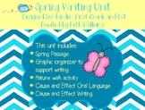 Spring Writing Unit for Kindergarten and First Grade ESL