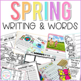 Writing Activities and Word Work for Spring | Distance Learning