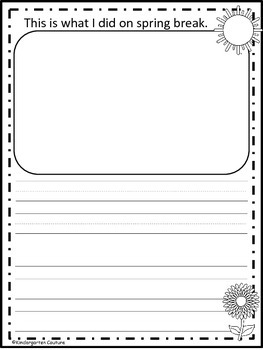 Spring Writing - freebie