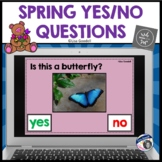 Spring YES - NO Questions Task Cards - BOOM CARDS