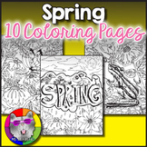 Spring Coloring Pages, Zen Doodles