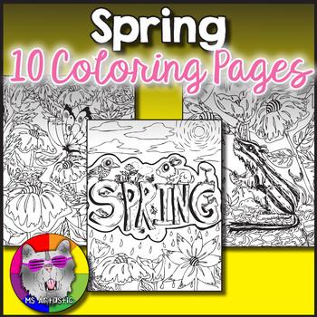Spring Coloring Pages, Zen Doodles