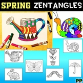 Spring Zentangles,  No Prep Coloring Pages