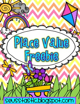 Spring-a-licious Place Value Freebie