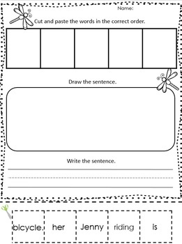 Spring activities - Scrambled Sentences