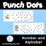 Spring alphabet and number sequencing punch dots