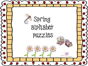 Spring alphabet puzzles