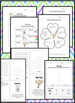 Spring Activities ~ preschool, kindergarten, first grade