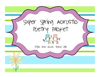 Spring and Easter Acrostic Poem Templates/ Graphic Organiz