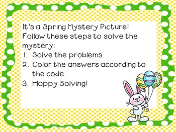 Spring and Easter Addition and Place Value Mystery Picture on the Hundreds Chart