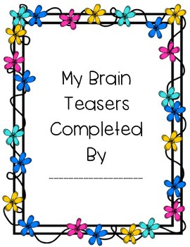 Spring and Easter Brain Teasers