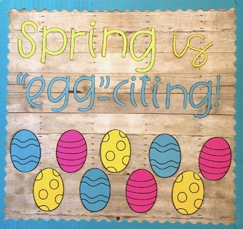 Spring and Easter Bulletin Board | With Writing Prompt