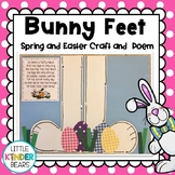 Spring and Easter Bunny Feet Craft and Poem
