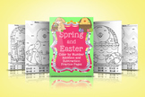 Spring and Easter Color By Number Addition and Subtraction Pages