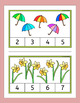 Spring and Easter Count and Clip - Kinder counting task cards for center