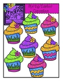 Spring and Easter Cupcakes {Creative Clips Digital Clipart}