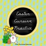 Spring and Easter Cursive Handwriting Practice Worksheets Freebie
