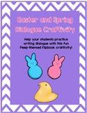 Spring and Easter Dialogue Writing Craftivity