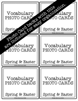 Spring and Easter Vocabulary Photo Flashcards