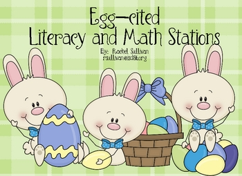 Spring and Easter Literacy and Math Stations Centers
