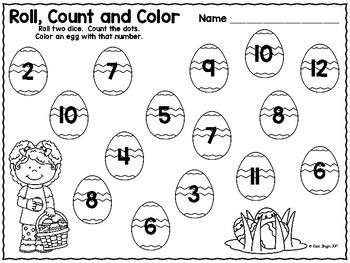 Spring and Easter Math Tub Games and Activities
