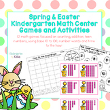 Spring and Easter Kindergarten Math Center Games and Activities