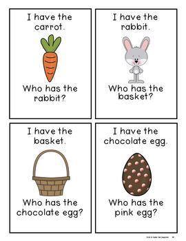 Spring and Easter I Have Who Has