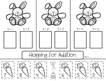 April, Spring, and Easter Math and Literacy Printables for Kindergarten