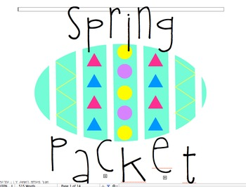 Spring and Easter Packet