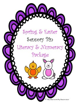 Spring and Easter Sensory Bin Literacy and Numeracy Package