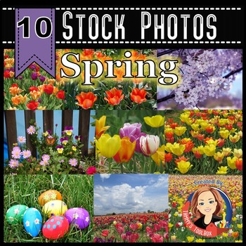 Spring and Easter Stock Photos - Tulips, Easter Eggs, Cher