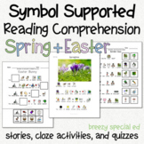 Spring and Easter - Symbol Supported Picture Reading Comprehension for SpEd