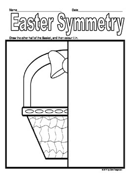 Spring and Easter Symmetry Worksheets
