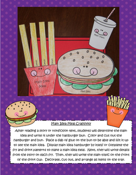 Spring and Easter Themed Reading Comprehension Craftivities to Use With Any Book