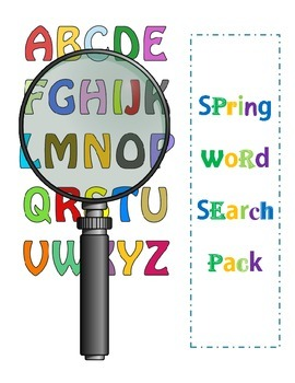 Spring and Easter Word Search/Scramble Pack