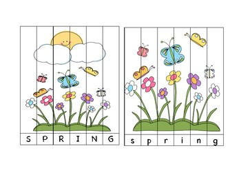 Spring and Easter Word and Number Puzzles