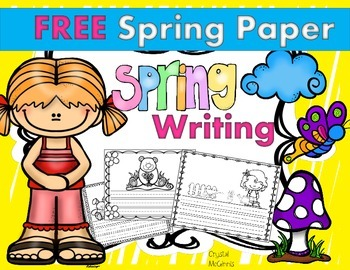 Spring and Easter Writing Paper FREEBIE