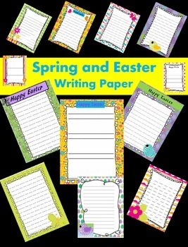 Spring and Easter Writing Papers - Personal & Commercial use