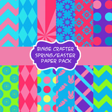 Spring and Easter digital paper pack/backgrounds