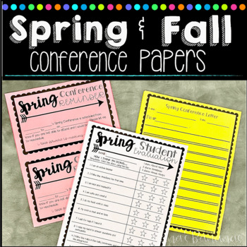 Spring and Fall Conference Form Pack