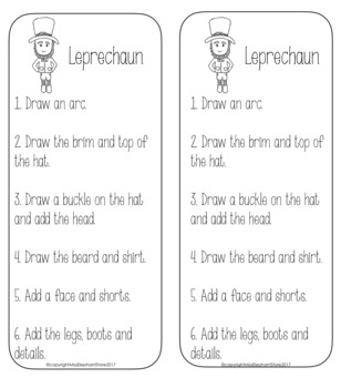 St. Patrick's Day Leprechaun Directed Drawing FREE