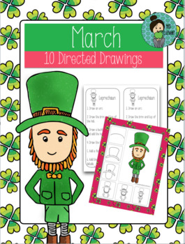 It is a picture of Striking Directed Drawing Leprechaun