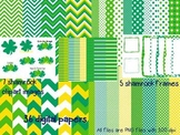 Spring and St. Patrick's Day Digital Papers, Frames, and Clip Art