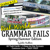 Spring and Summer Activities, Grammar Fails in the Real World
