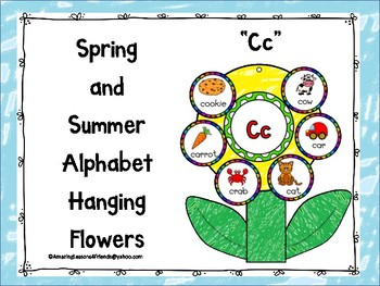 Spring and Summer Alphabet Hanging Flowers Cc