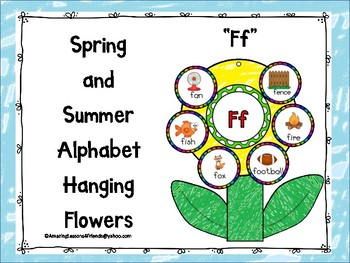 Spring and Summer Alphabet Hanging Flowers Ff