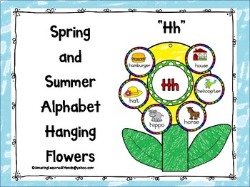 Spring and Summer Alphabet Hanging Flowers Hh