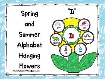 Spring and Summer Alphabet Hanging Flowers Ii